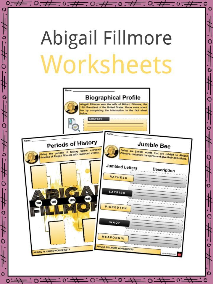 Abigail Fillmore Worksheets