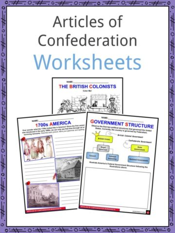 Articles of Confederation Worksheets