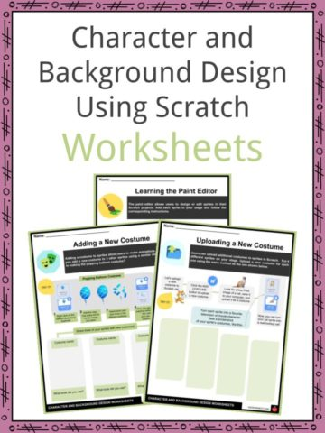 Character and Background Design Using Scratch Worksheets
