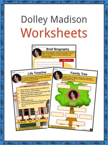 Dolley Madison Worksheets