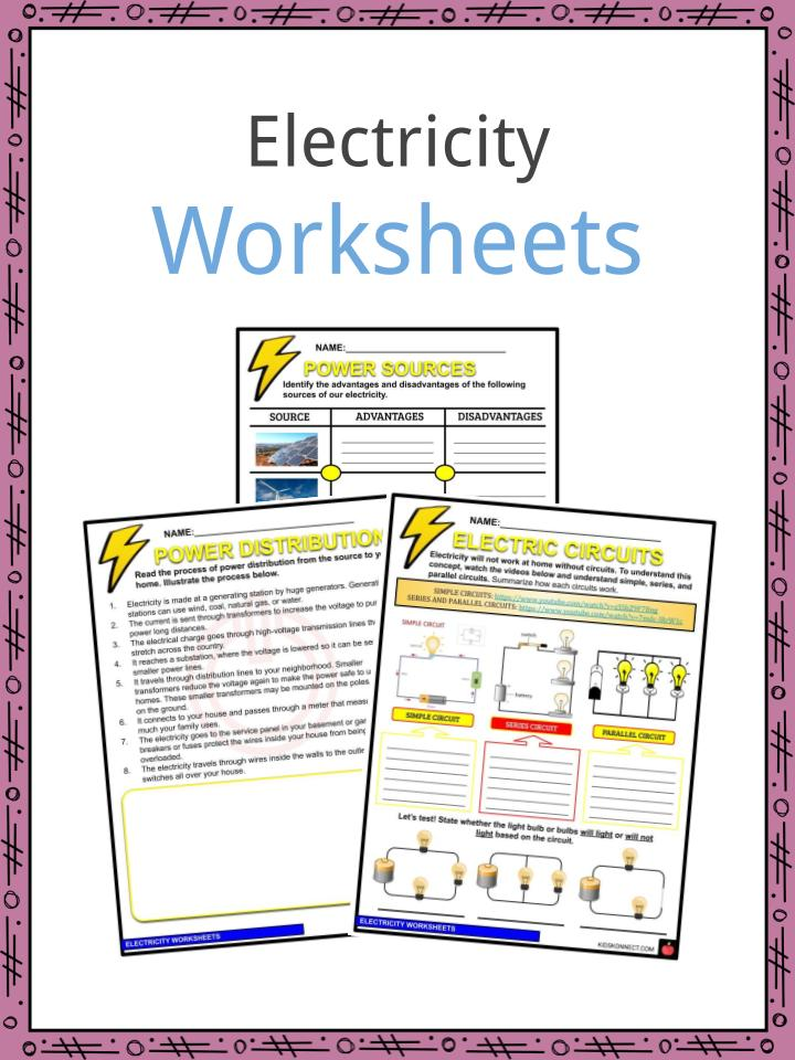 Electricity Facts, Worksheets & Information For Kids