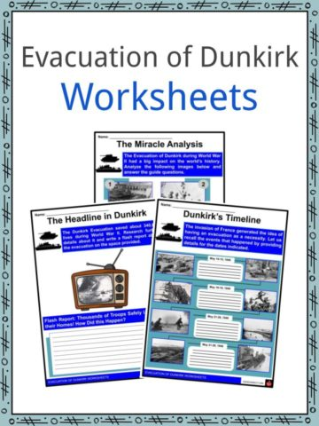 Evacuation of Dunkirk Worksheets