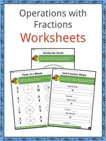 Operations with Fractions Worksheets