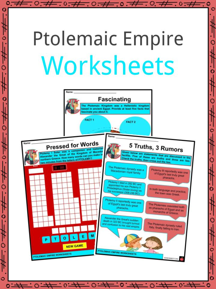 Ptolemaic Empire Worksheets