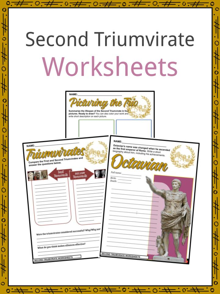 Second Triumvirate Worksheets