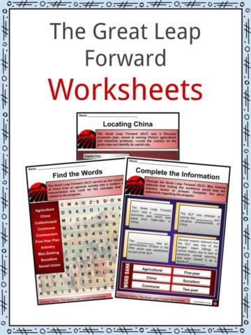 The Great Leap Forward Worksheets