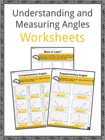 Understanding and Measuring Angles Worksheets