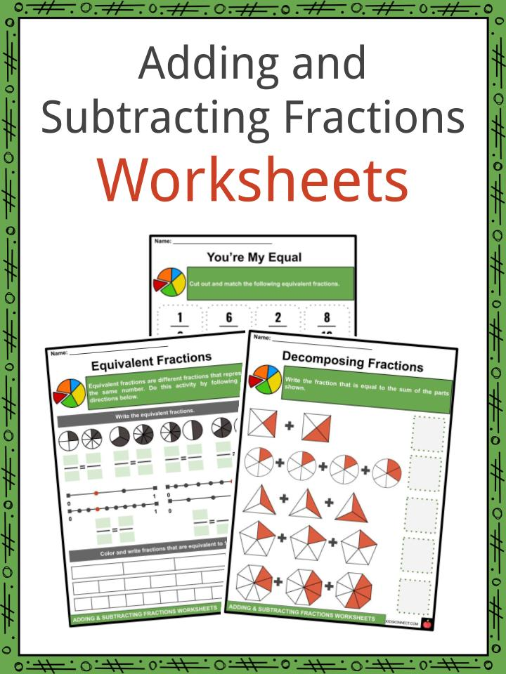 Adding And Subtracting Fractions Facts & Worksheets For Kids