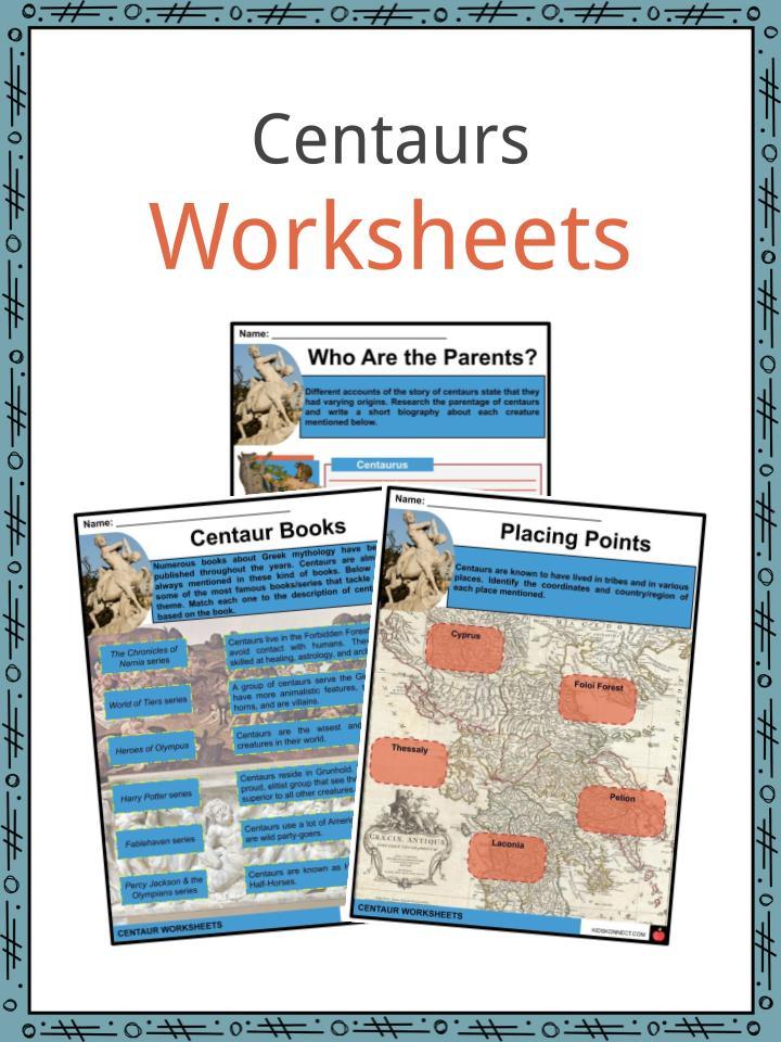 Centaurs Worksheets