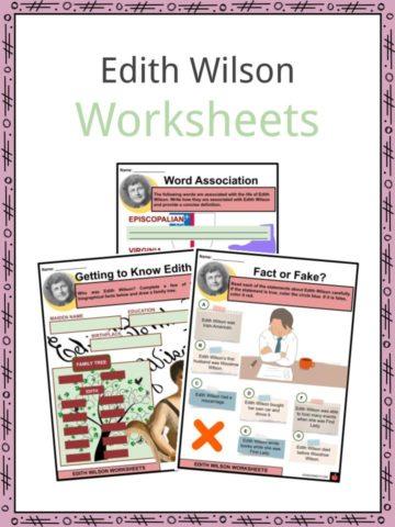 Edith Wilson Worksheets