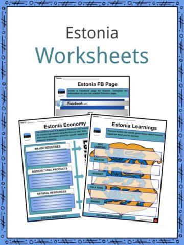 Estonia Worksheets