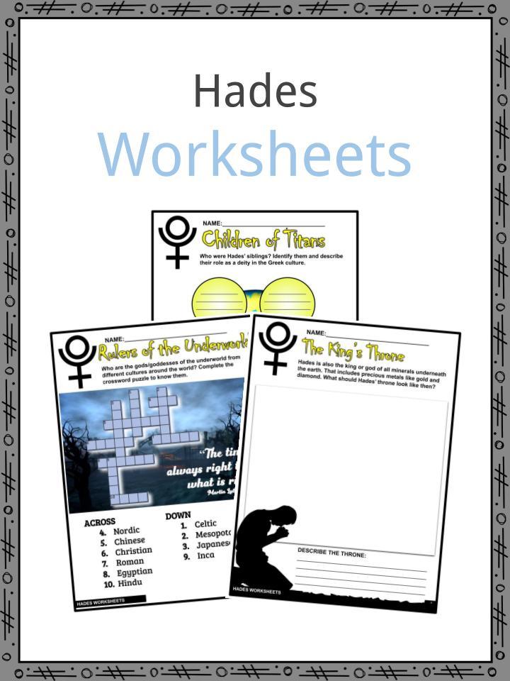 Hades Worksheets