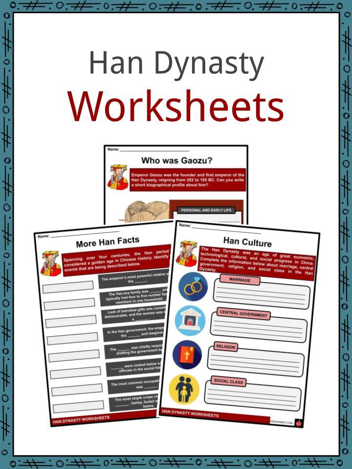 Han Dynasty Worksheets