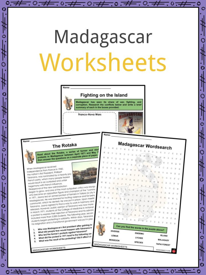Madagascar Worksheets