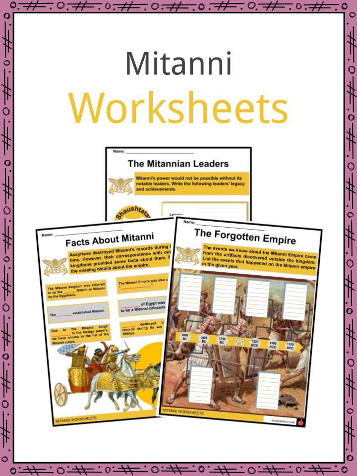 Mitanni Worksheets