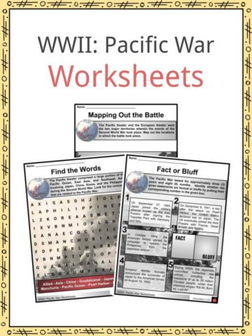 Pacific War Worksheets