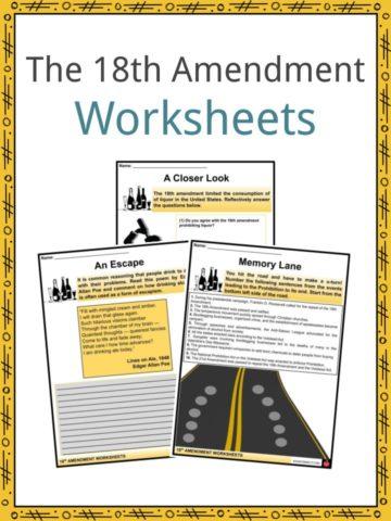 18th Amendment Worksheets