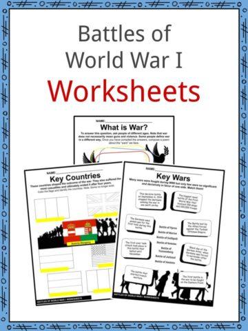 Battles of World War I Worksheets