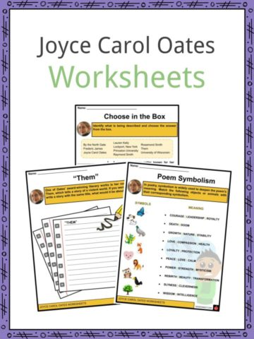 Joyce Carol Oates Worksheets