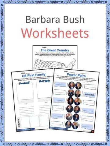 Barbara Bush Worksheets