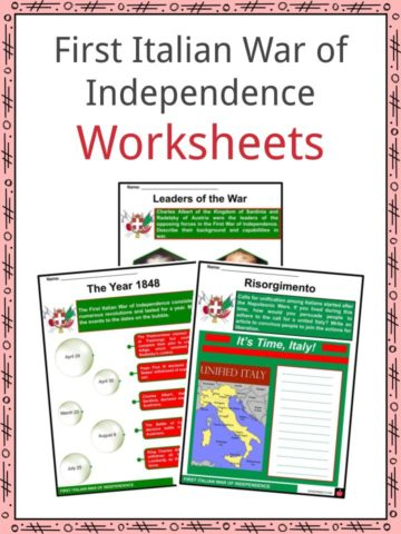 First Italian War of Independence Worksheets
