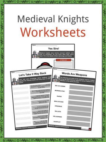 Medieval Knights Worksheets