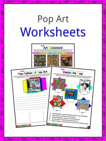 Pop Art Worksheets