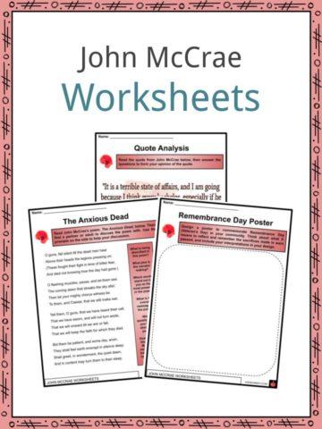 John McCrae Worksheets