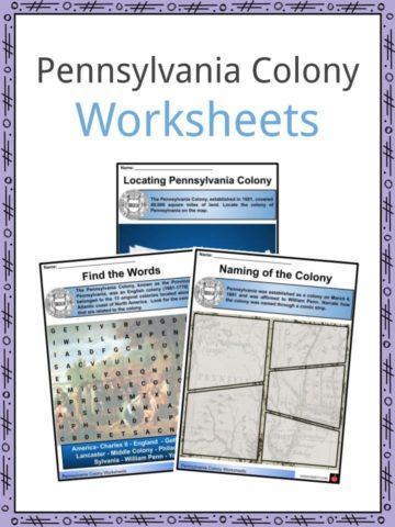Pennsylvania Colony Worksheets