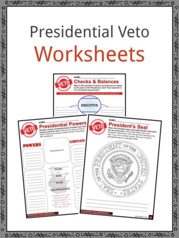 Presidential Veto Worksheets