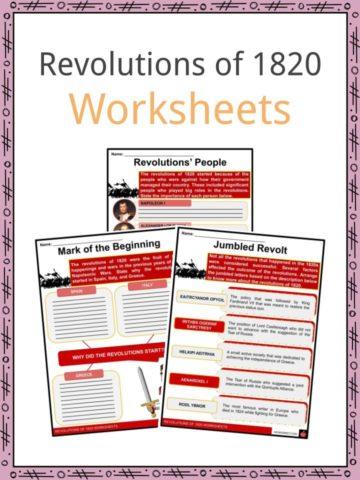 Revolutions of 1820 Worksheets