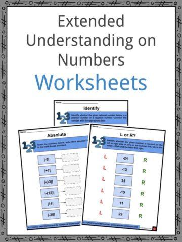 Extended Understanding on Numbers Worksheets