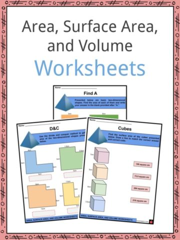 Area, Surface Area, and Volume Worksheets