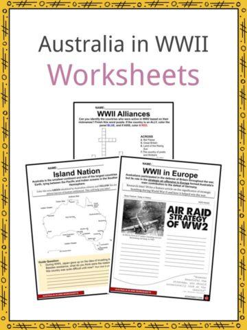 Australia in WWII Worksheets