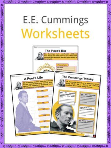 E.E. Cummings Worksheets