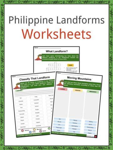 Philippine Landforms Worksheets