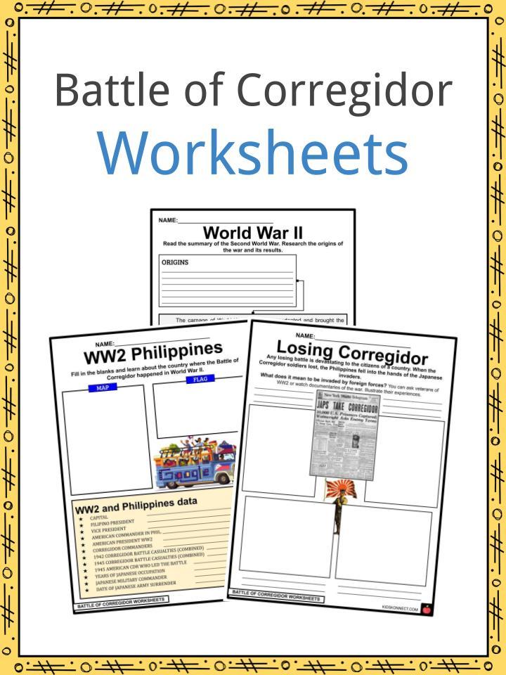 Battles of Corregidor Worksheets