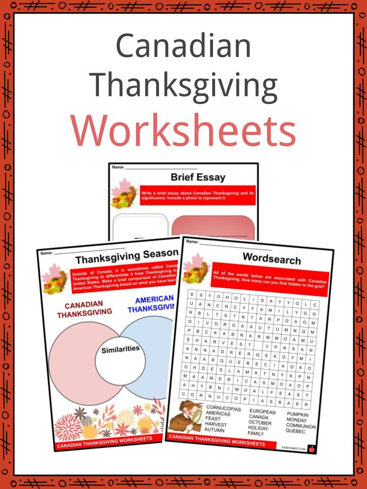 Canadian Thanksgiving Worksheets