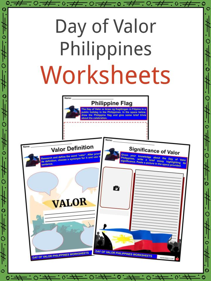 Day of Valor Philippines Worksheets