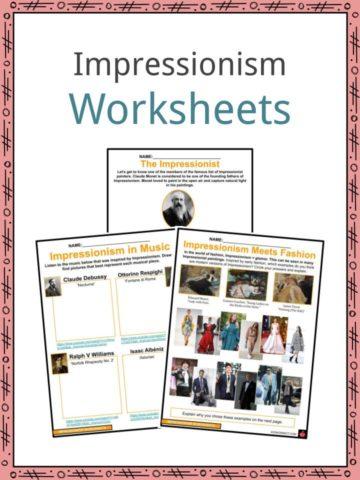 Impressionism Worksheets