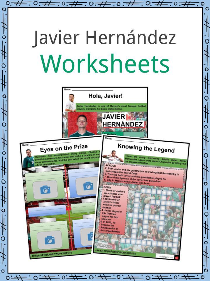 Javier Hernández Worksheets