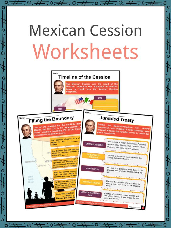 Mexican Cession Worksheets