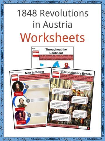 1848 Revolutions In Austria Worksheets