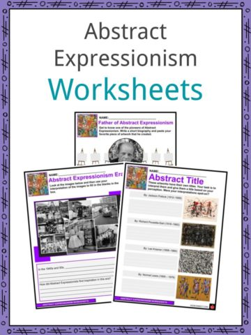Abstract Expressionism Worksheets