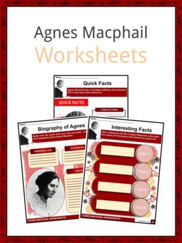Agnes Macphail Worksheets