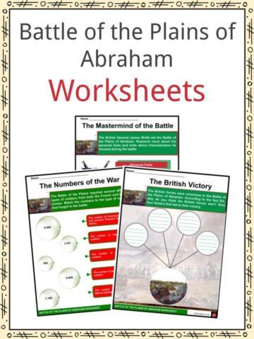 Battle of the Plains of Abraham Worksheets