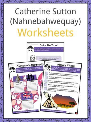 Catherine Sutton (Nahnebahwequay) Worksheets