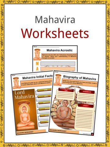 Mahavira Worksheets