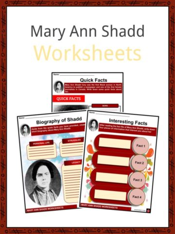 Mary Ann Shadd Worksheets