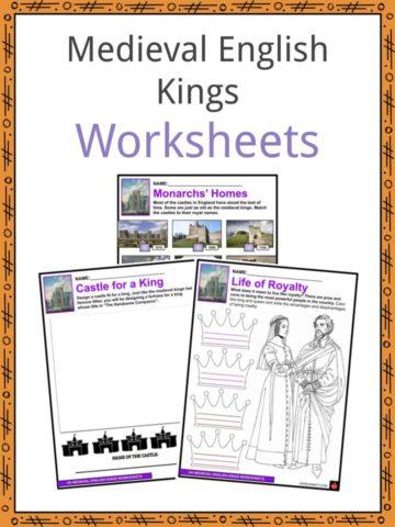 Medieval English Kings Worksheets